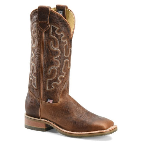 Double H Men's Galveston Domestic Low Profile Brown Roper Boots DH4852