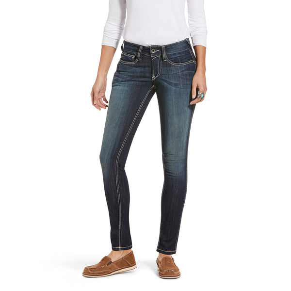 Ariat® Ladies R.E.A.L Mid Rise Outseam Ella Skinny Jeans 10018357