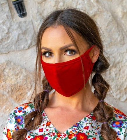 L&B Unisex Red Face Mask FAMA-06-RED