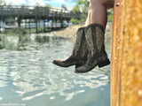 Corral Ladies Iconic Lisa Brown Crater Bone Embroidered Boots A2663