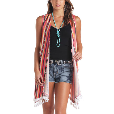 Panhandle Ladies Serape Printed Vest J7V5556