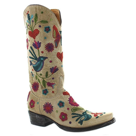 Old Gringo Ladies Bone Pajaro Multicolor Boots L2476-4 - Wild West Boot Store - 1