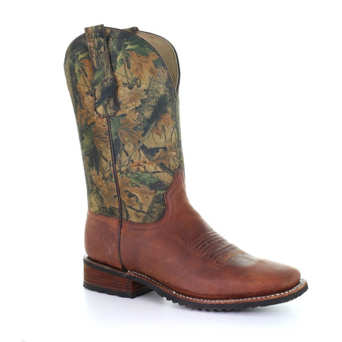 Circle G by Corral Men's Camo Distressed Boots L5524