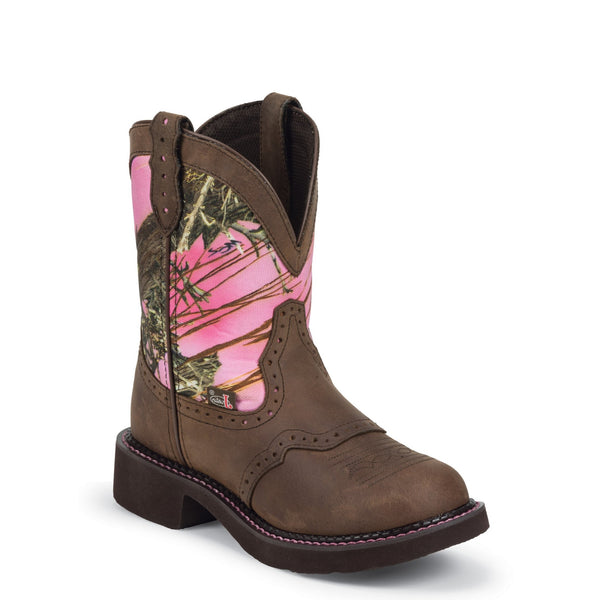 Justin Ladies Gypsy Aged Bark Pink Camo Boots L9610