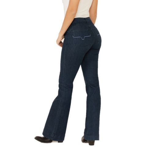 Kimes Ranch Ladies Lola Mid-Rise Trouser Dark Indigo Jeans LOLA-DI