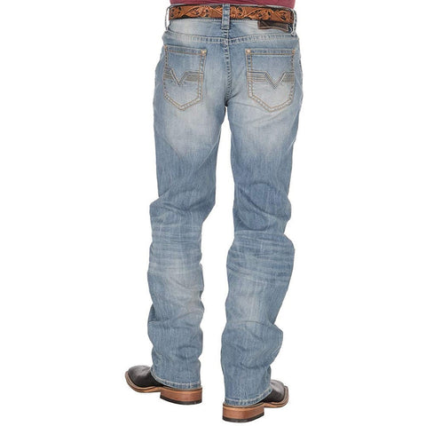 Rock & Roll Denim Men's Double Barrel Straight Relax Fit Jeans M0S9260