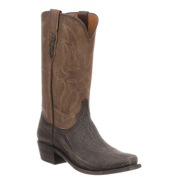 Lucchese Men's Carl Chocolate Sanded Shark Skin Western Boots M3105.74