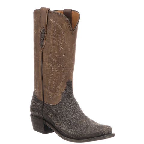 Lucchese Men's Carl Chocolate Sanded Shark Leather Boots M3105.74