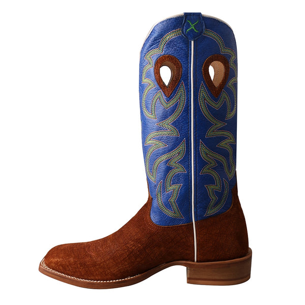 Twisted X Men's Ruff Stock Cognac Hippo & Royal Blue Boots MRSL034 - Wild West Boot Store