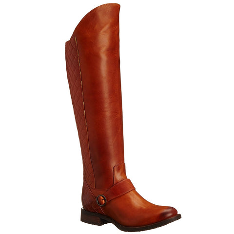 Justin Ladies Suntan Side Zipper Knee-high Boots MSL701 - Wild West Boot Store