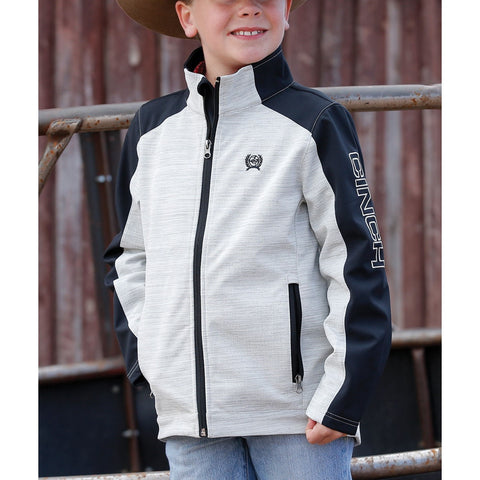 Cinch Boys Bonded Full Zip Grey and Black Jacket MWJ7910001