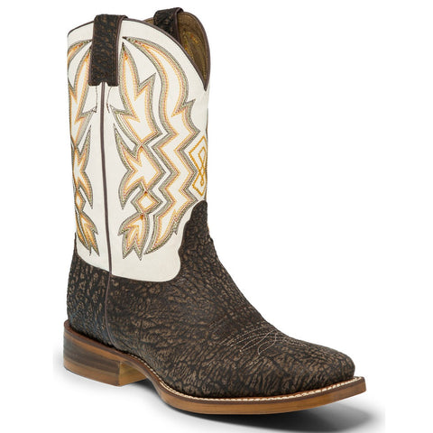 Nocona Men's Deputy Chocolate/White Embroidered Boot NB3002