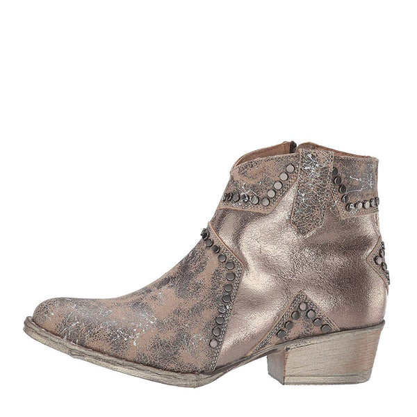 Circle G By Corral Ladies Bone Star Inlay & Studs Ankle Boots Q5071
