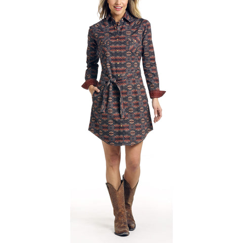 Panhandle Ladies Aguila Vintage Aztec Dress R4O3182