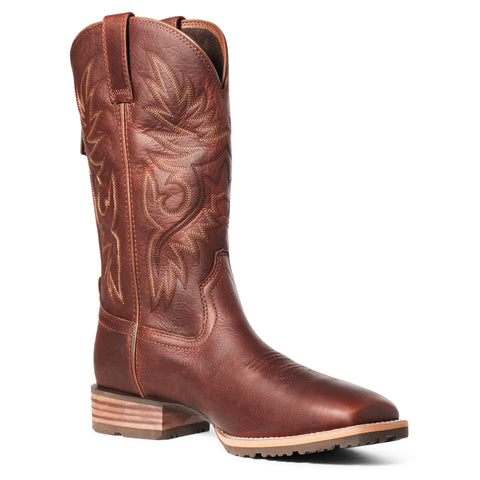 Ariat Men's Hybrid Big Boy Back Zip Peanut Brown Boots 10035902