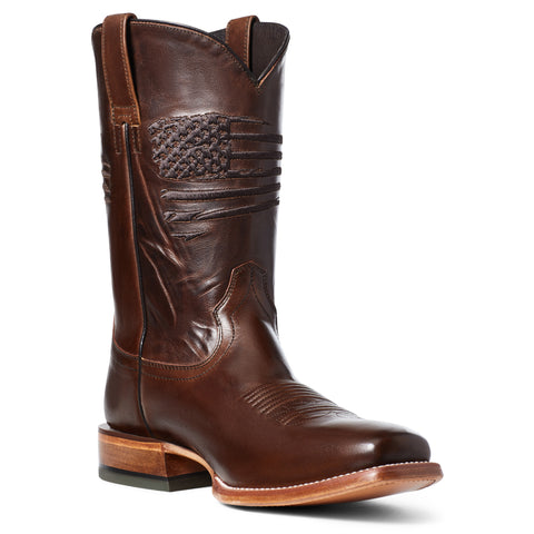 Ariat Men's Circuit Patriot Bar Top Brown Square Toe Boots 10036001