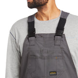 Ariat® Mens Rebar DuraCanvas Unlined Grey Bibs 10034653