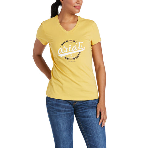 Ariat Ladies Authentic Logo Local Honey Short Sleeve T-Shirt 10035469