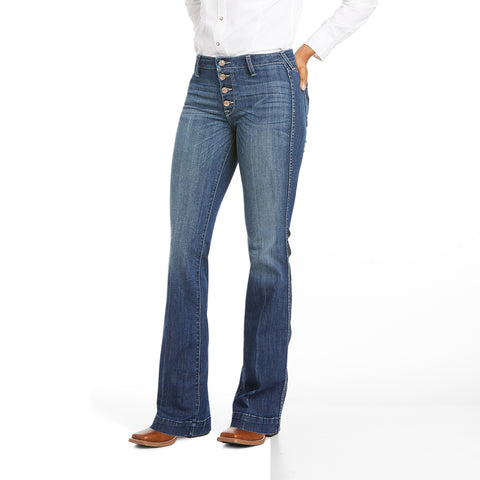 Ariat Ladies R.E.A.L Isabella Slim Wide Leg Trouser Jeans 10034668