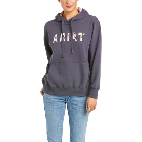 Ariat Ladies R.E.A.L Floral Periscope Hooded Sweatshirt 10034873