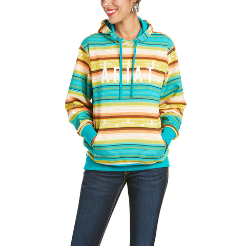 Ariat Ladies R.E.A.L Baja Multi Colored Hooded Sweatshirt 10034874
