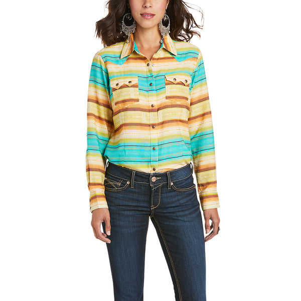 Ariat Ladies Real Mesmerizing Striped Button Up Shirt 10035187