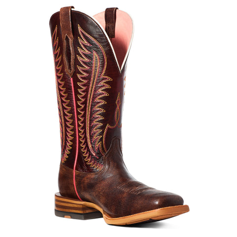 Ariat Ladies Belmont Mahogany and Brown Square Toe Boots 10035780