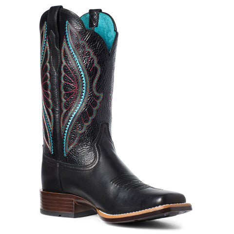 Ariat Ladies Primetime True Black Square Toe Boots 10035934