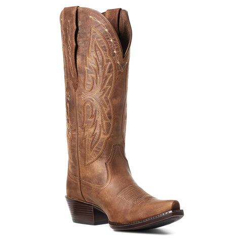 Ariat Ladies Heritage Elastic Calf Brown Snip Toe Boots 10036047