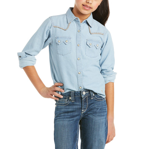 Ariat Girls R.E.A.L Kind By Water Long Sleeve Shirt 10035539