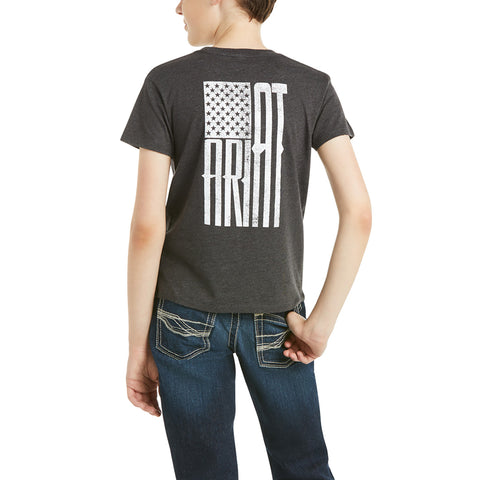 Ariat Children's Charcoal US of A Short Sleeve T-Shirt 10035633