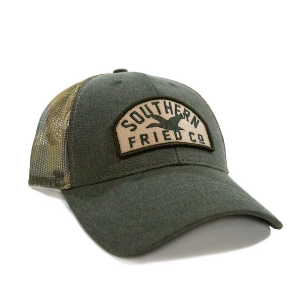 Southern Fried Cotton Duck Patch Structured Low Pro Mesh Hat SFA6085