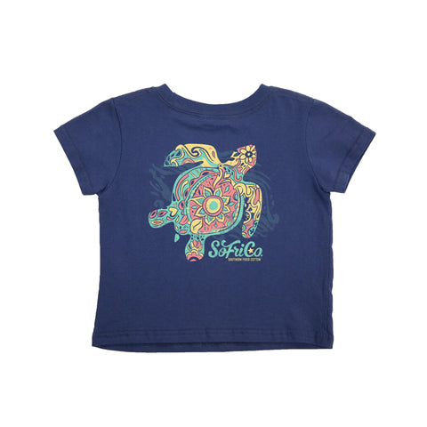 Southern Fried Cotton Children's Toddler Peace Turtle Shirt SFT01611