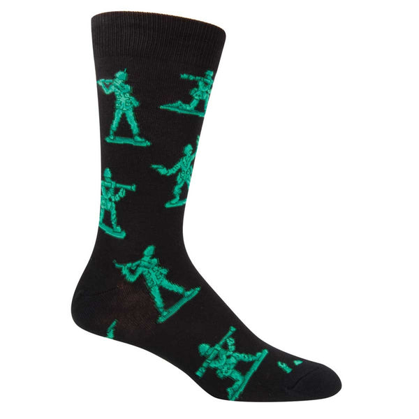 SockSmith Men's Army Men Black Crew Socks SSM1415