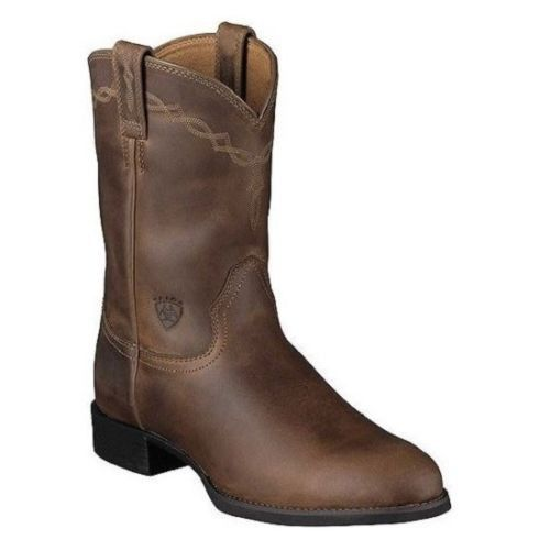 Ariat Men's Heritage Roper Boots Distressed Brown 10002284 - Wild West Boot Store