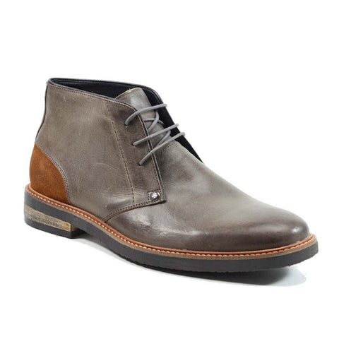 Testosterone Men's Air Alert Grey/Rust Leather Lace-up Boot T90702-GRY