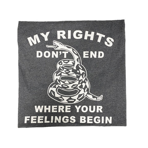 "2nd Amendment Shirts ""My Rights Don't End"" Grey T-Shirt 20257"