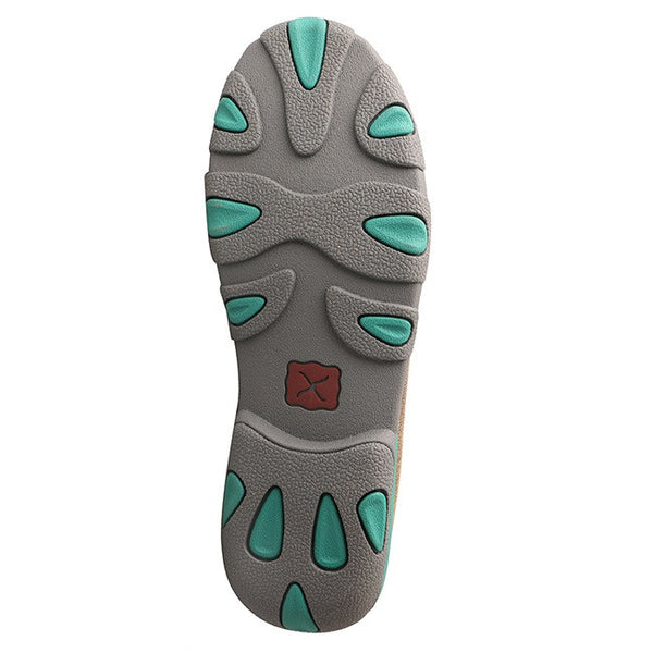 Twisted X Ladies Brown Bomber & Turquoise Fish Driving Mocs WDM0067 - Wild West Boot Store