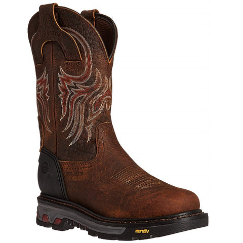 Justin Men's Pumpjack Mahogany Waterproof Steel Toe Work Boot WK2108