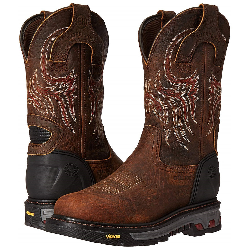 97013085b8f Justin Men's Pumpjack Mahogany Waterproof Steel Toe Work Boot WK2108 ...