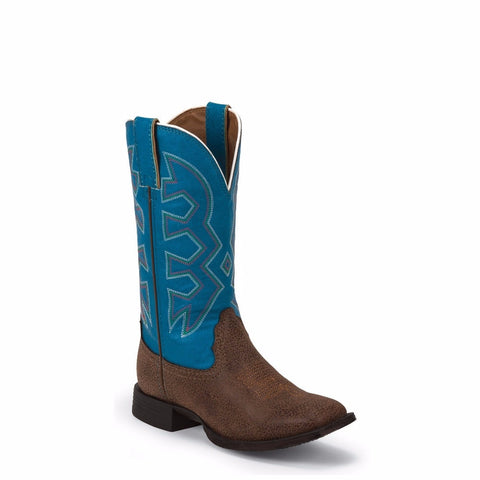 Nocona Children's Let's Rodeo Blue & Chocolate Pebble Boot NK5050 - Wild West Boot Store
