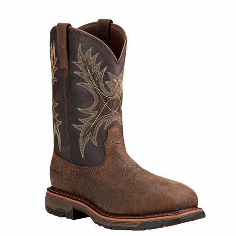 Ariat Men's Workhog H2O Wide Square Comp Toe Bruin Work Boots 10017420 - Wild West Boot Store
