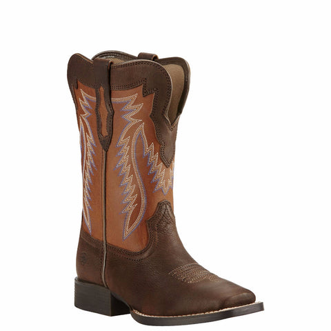 Ariat Children's Buscadero Pecos Brown Sorrel Western Boots 10018623 - Wild West Boot Store