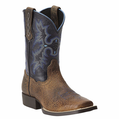 Ariat Children's Tombstone Earth w/ Black Top Square Toe Boot 10012794 - Wild West Boot Store