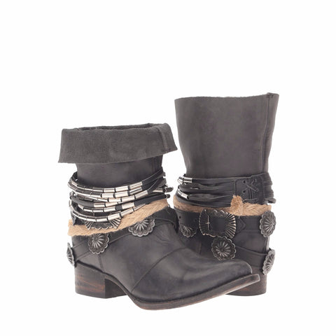 Freebird by Steven Ladies Yerba Black Short Boots FB-YERBA-BLK - Wild West Boot Store