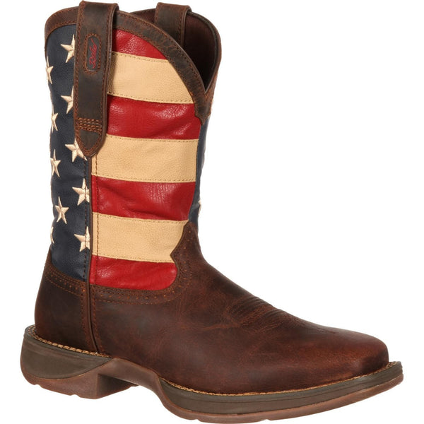 Durango Men's Rebel Patriotic Pull-On Flag Boots DB5554 - Wild West Boot Store - 1