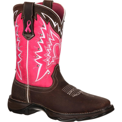 Durango Ladies Pink Ribbon Breast Cancer Awareness Boots RD3557 - Wild West Boot Store - 1