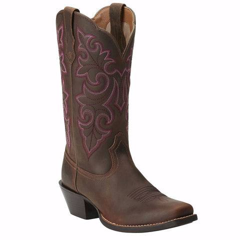 Ariat Ladies Round Up Square Toe Western Boot 10014172 - Wild West Boot Store - 1