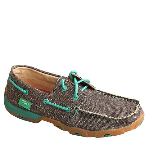 Twisted X Ladies Dust/Teal ECO Driving Moc WDM0085 - Wild West Boot Store