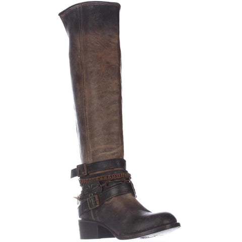 Freebird by Steve Madden Ladies Abbot Brown Tall Boots FB-ABBOT-BRN - Wild West Boot Store